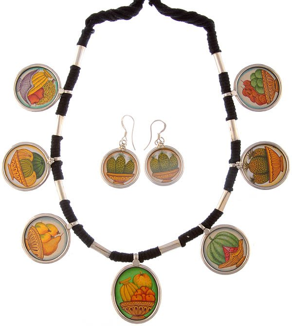 Fruit Necklace with Matching Earrings Set