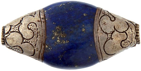 Lapis Beads with Silver Caps (Price Per Piece)