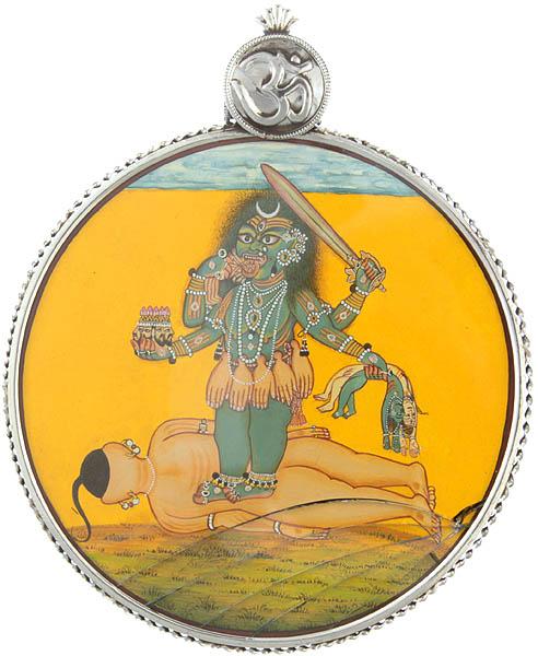 Chaturbhuja Bhadrakali Pendant Round