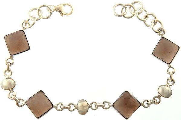 Smoky Quartz Bracelet with Pearl