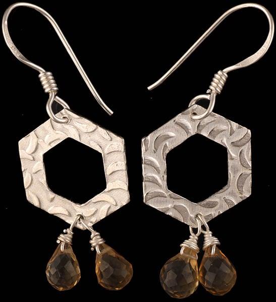 Faceted Citrine Earrings