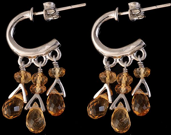 Faceted Citrine Chandeliers