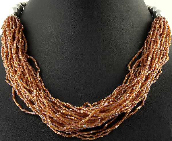 Brown Bunch Necklace