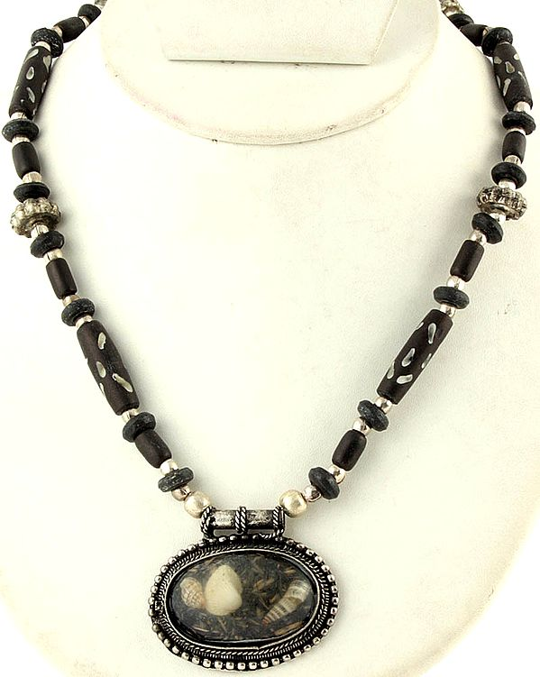 Black Color Beaded Necklace