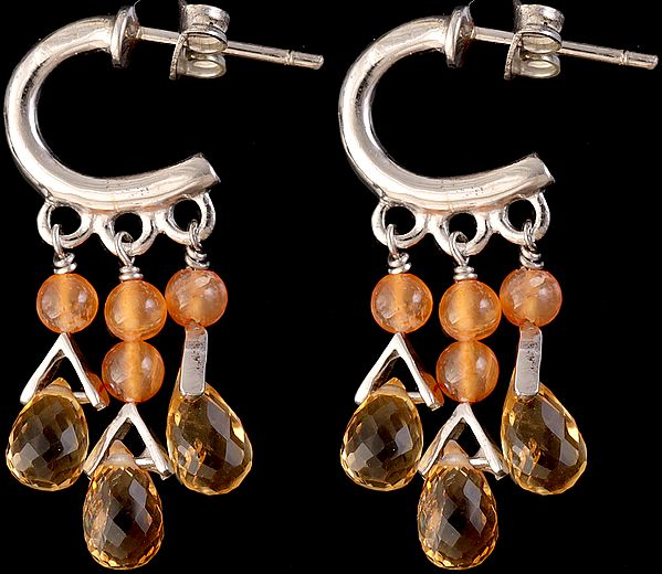 Faceted Citrine with Carnelian