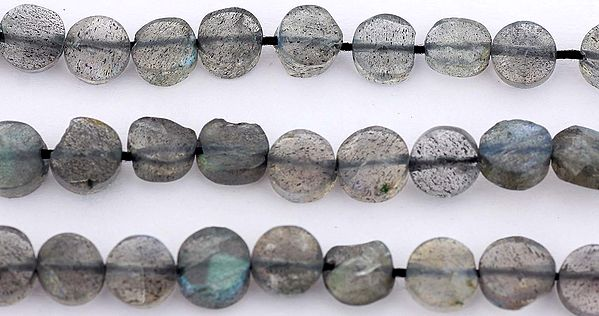 Faceted Labradorite Coins