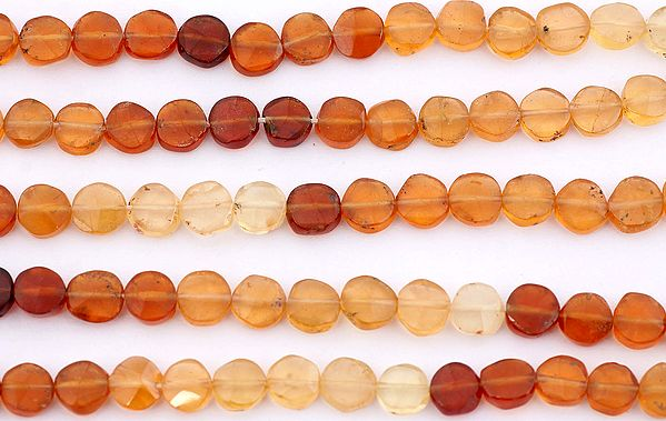 Faceted Hessonite Coins
