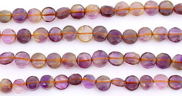 Faceted Ametrine Coins