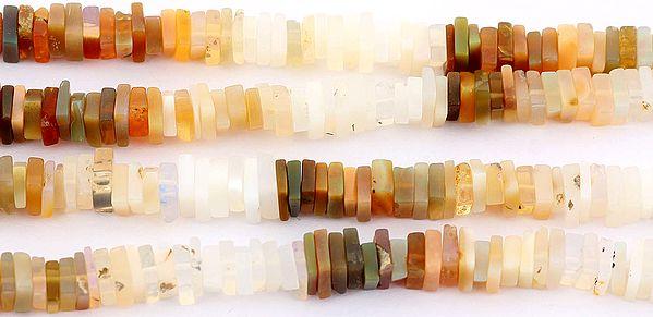 Multi-Color Moonstone Square Discs