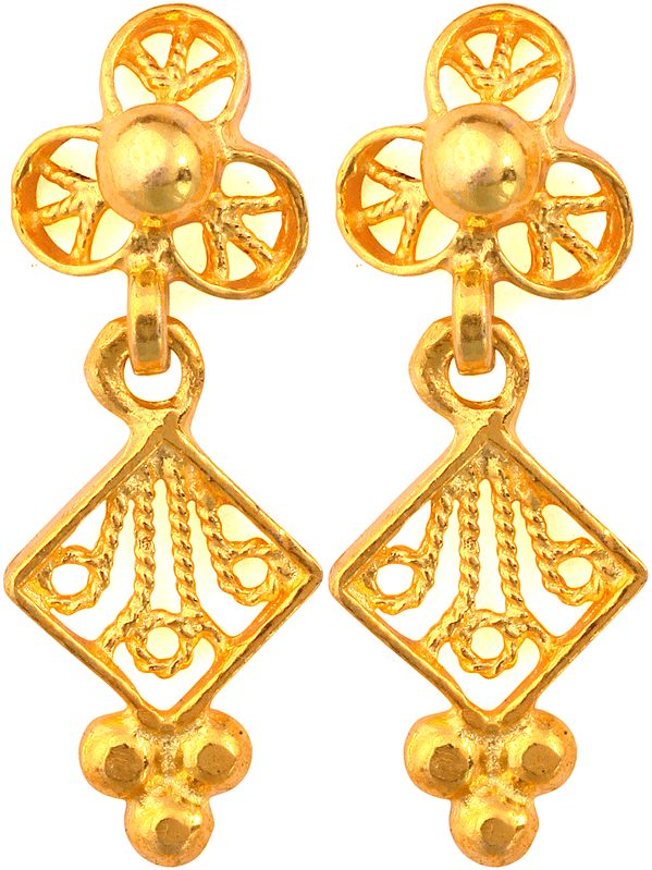 Sterling Gold Plated Earrings