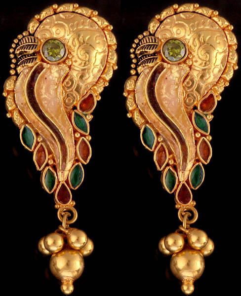 Meenakari Mayuri Earrings