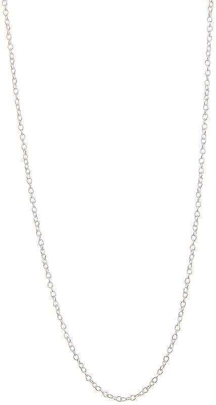 Sterling Chain with Spring Closure