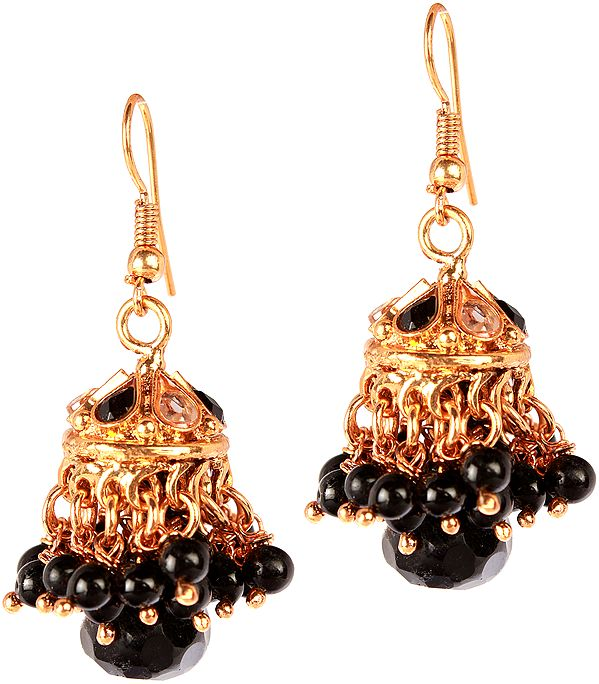 Black Umbrella Chandelier Earrings