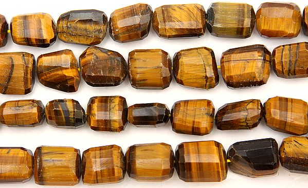 Faceted Tiger Eye Large Tumbles