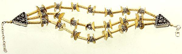 Sterling Gold Plated Three-Strand Bracelet