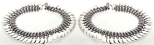 Diskette-Drop Paisley Anklets (Price Per Pair)