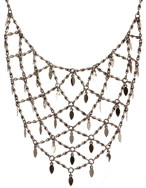 Sterling Knotted Rope Designer Necklace