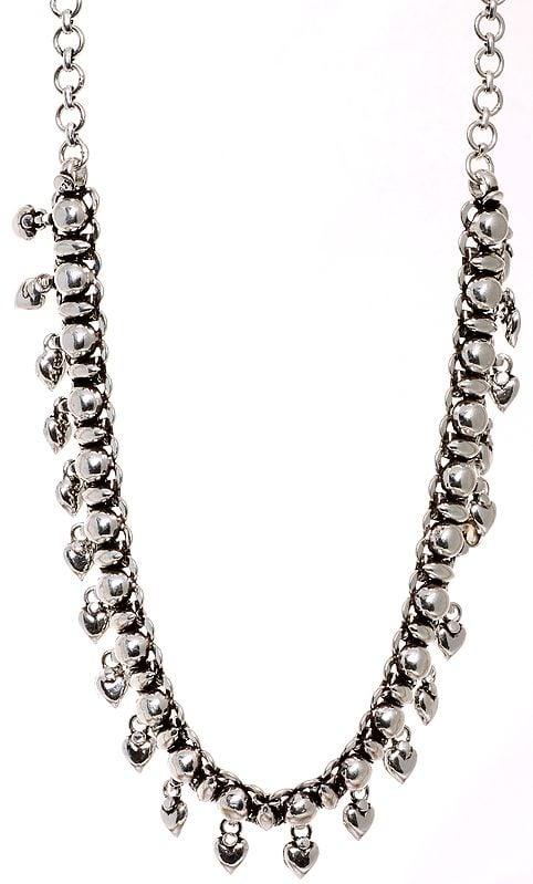 Valentine Adjustable Choker in Sterling Silver