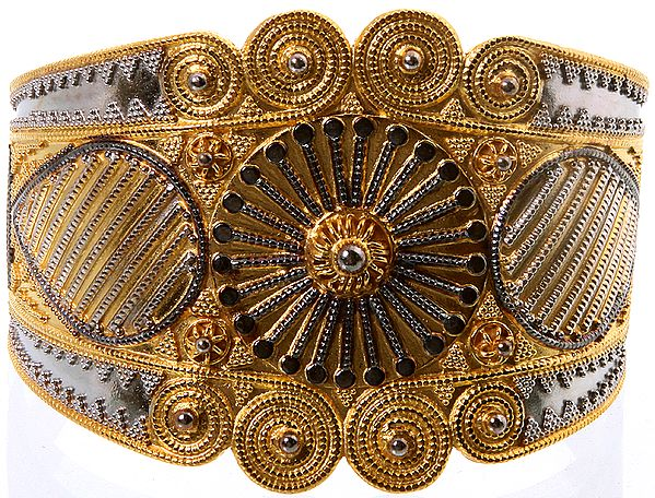 Sterling Gold Plated Cuff Bracelet