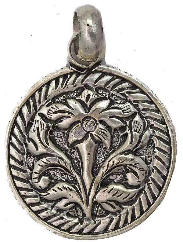 Sterling Flower Pendant