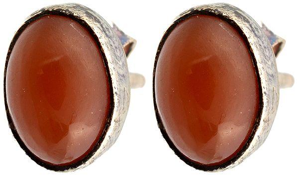 Carnelian Post Earrings