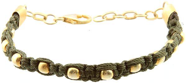 Sterling Gold Plated Cord Bracelet