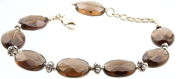 Faceted Smoky Quartz Bracelet
