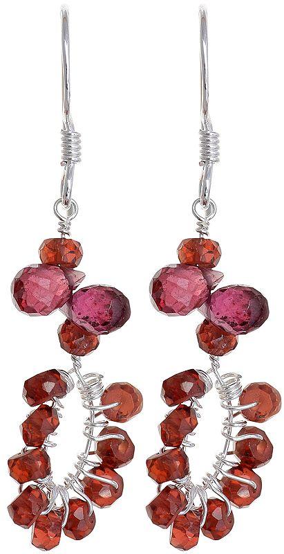 Faceted Garnet Earrings