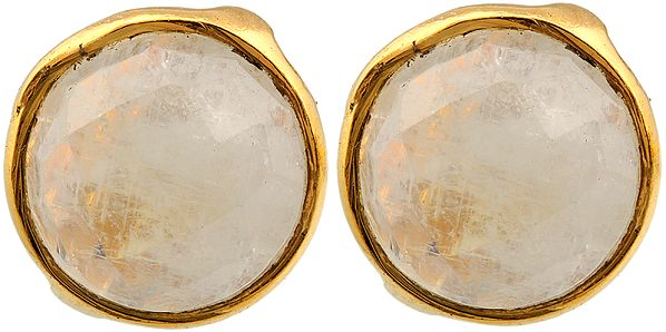Faceted Rainbow Moonstone Tops