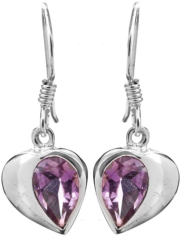 Sterling Earrings with Faceted Gems