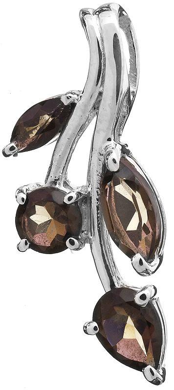 Sterling Pendant Faceted Gems