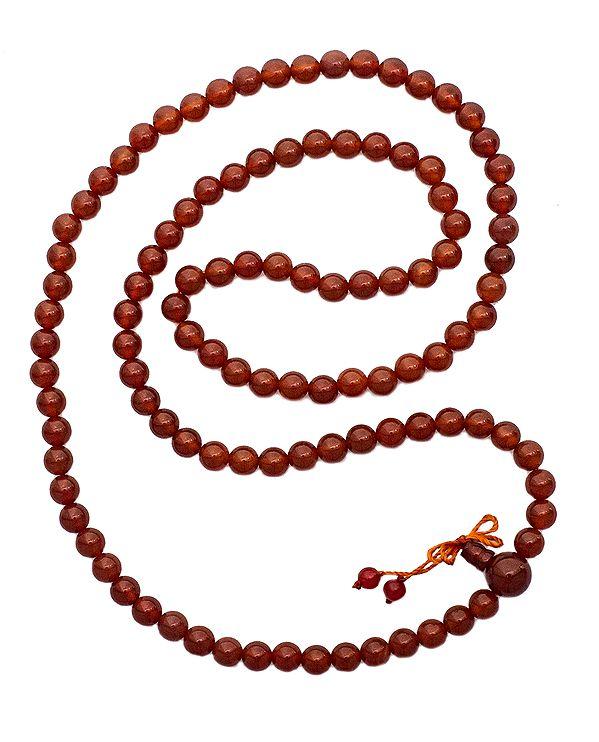 Carnelian Chanting Rosary (Mala) of 108 Beads