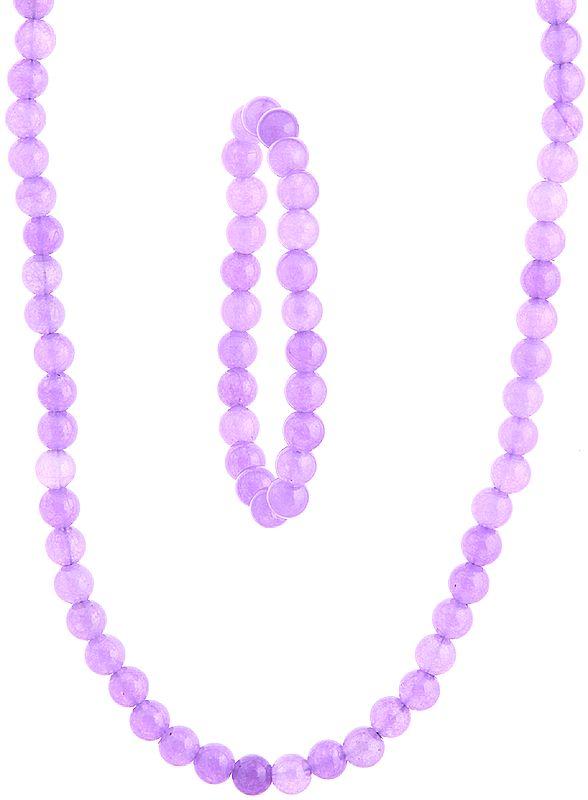 Light Purple Necklace and Stretch Bracelet Set