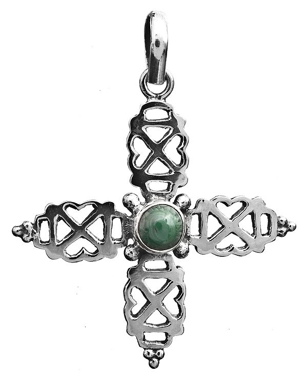 Malachite Cross Pendant