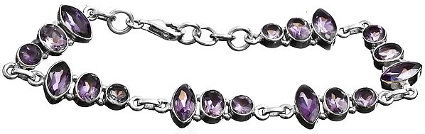 Faceted Amethyst Bracelet