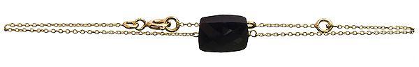 Black Spinel Gold Plated Bracelet