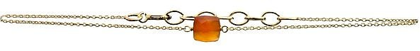 Faceted Carnelian Gold Plated Bracelet