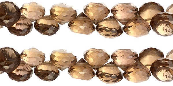 Faceted Smoky Quartz Onions