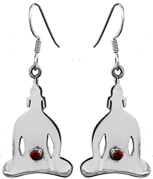 Chakra Earrings with Faceted Garnet