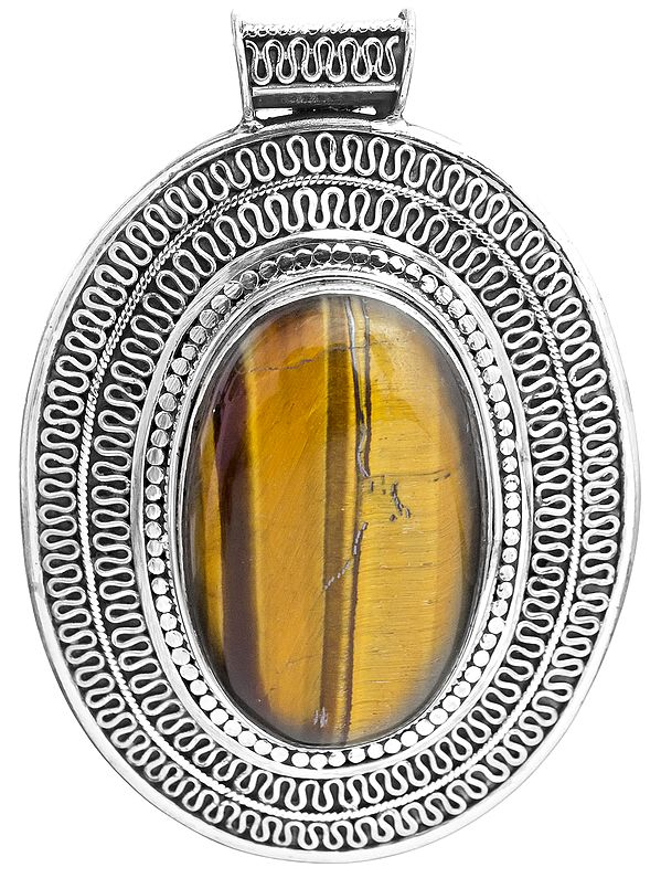 Tiger Eye Large Pendant