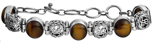 Tiger Eye Bracelet with Lattice