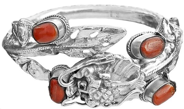 Dragon Bracelet with Coral