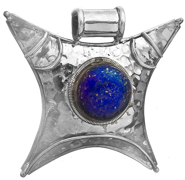 Lapis Lazuli Shield Pendant