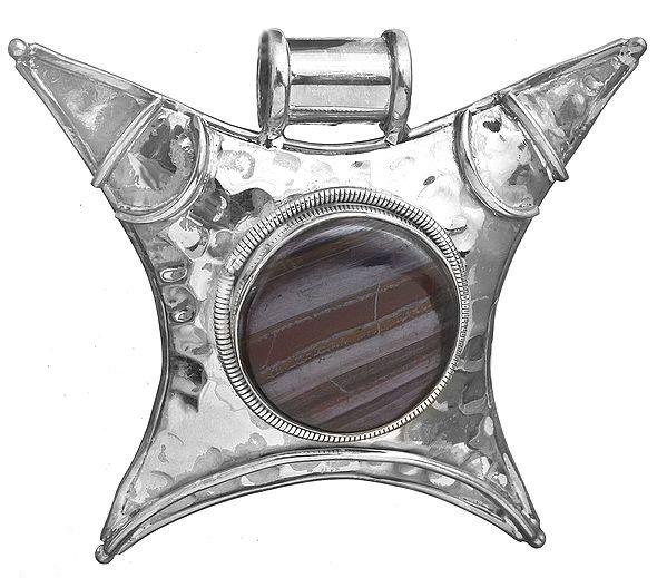 Iron Tiger Eye Large Pendant