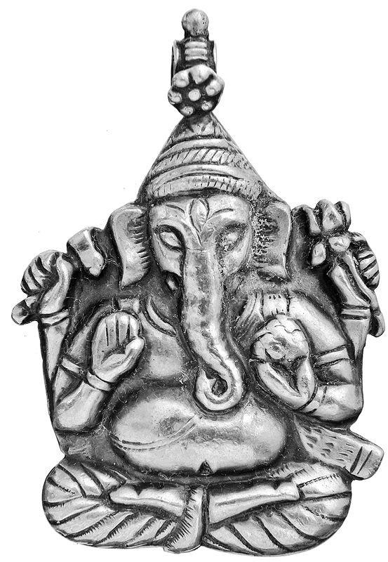Sterling Lord Ganesha Pendant