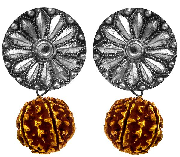Karnaphul Rudraksha Earrings