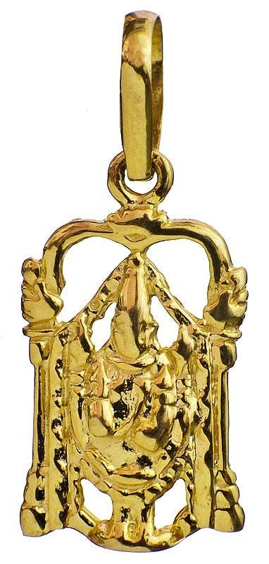 Handcrafted Pendant of Lord Venkateshvara of Tirupati