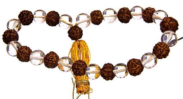 Sphatik Rudraksha Crystal Bracelet