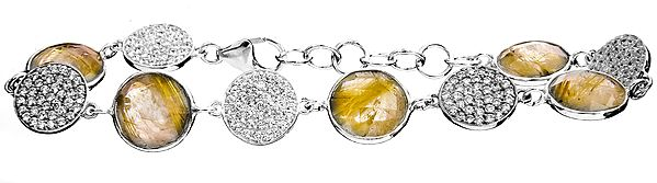 Sterling Bracelets with Faceted Gems