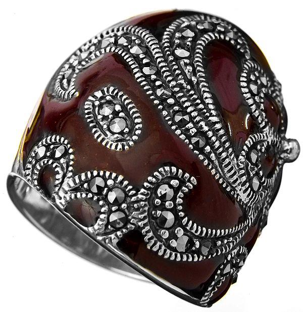 Purple Marcasite Ring